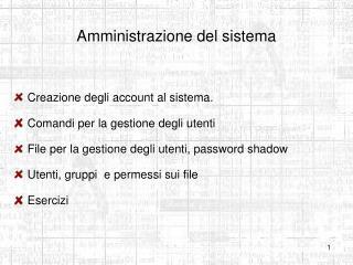 Amministrazione del sistema