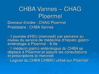 CHBA Vannes – CHAG Ploermel
