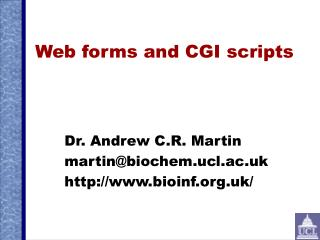 Web forms and CGI scripts