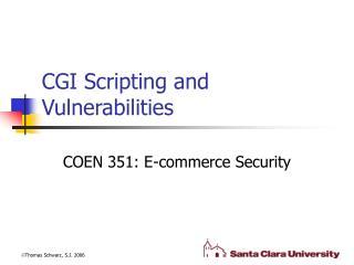 CGI Scripting and Vulnerabilities
