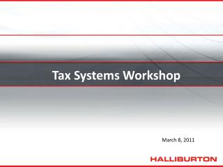 Tax Systems Workshop