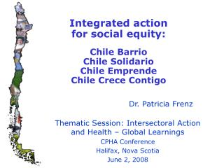 Thematic Session: Intersectoral Action and Health – Global Learnings  CPHA Conference