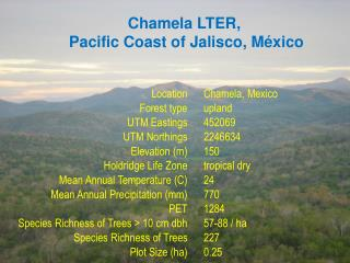 Chamela LTER,  Pacific Coast of Jalisco, M�xico