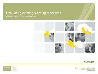 Evaluating existing learning resources