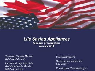 Life Saving Appliances Webinar presentation  January 2014