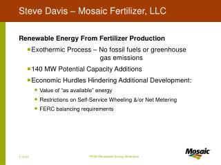 Steve Davis   Mosaic Fertilizer, LLC