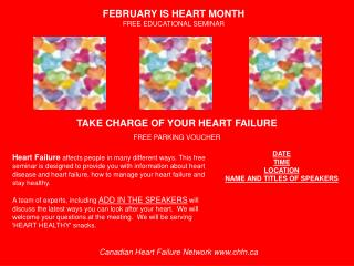 TAKE CHARGE OF YOUR HEART FAILURE FREE PARKING VOUCHER