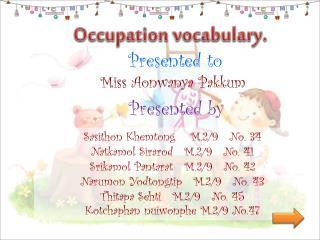 Occupation vocabulary.