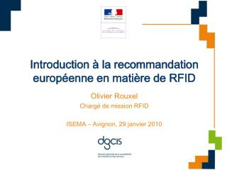 Introduction à la recommandation européenne en matière de RFID
