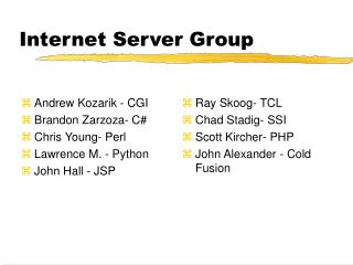Internet Server Group