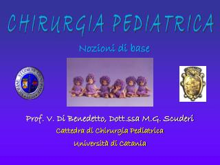 Prof. V. Di Benedetto, Dott.ssa M.G. Scuderi Cattedra di Chirurgia Pediatrica
