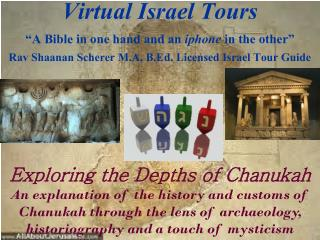 "Virtual Israel Tours  ""A Bible in one hand and an  iphone  in the other"""