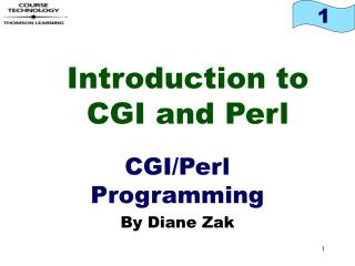 Introduction to CGI and Perl
