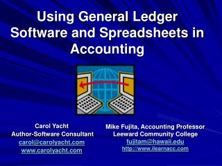 Using General Ledger Software and Spreadsheets in Accounting