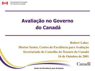 Avaliação no Governo  do Canadá