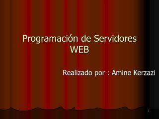 Programación de Servidores WEB