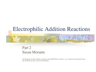 Electrophilic Addition Reactions
