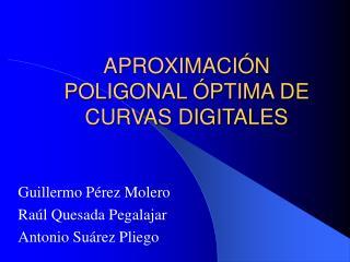 APROXIMACIÓN POLIGONAL ÓPTIMA DE CURVAS DIGITALES