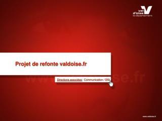 Projet de refonte valdoise.fr