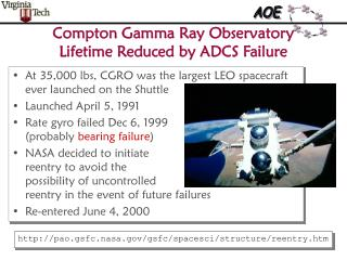 Compton Gamma Ray Observatory Lifetime Reduced by ADCS Failure