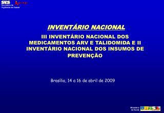 INVENTÁRIO NACIONAL