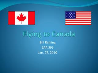 Flying to Canada