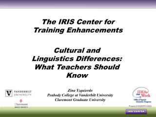 Cultural and Linguistics Differences: What Teachers Should Know