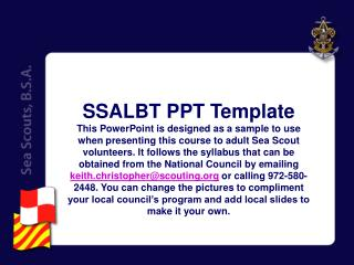 SSALBT PPT Template
