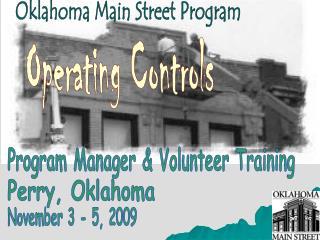 Oklahoma Main Street Program