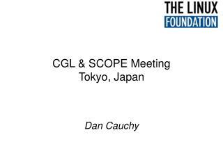 CGL & SCOPE Meeting Tokyo, Japan