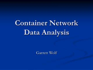 Container Network Data Analysis