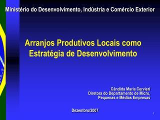 Arranjos Produtivos Locais como Estratégia de Desenvolvimento