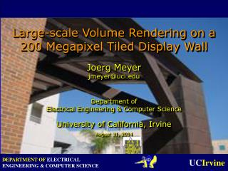 Large-scale Volume Rendering on a 200 Megapixel Tiled Display Wall
