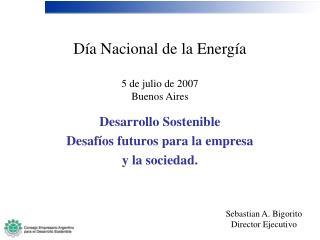Día Nacional de la Energía 5 de julio de 2007 Buenos Aires