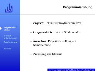 Programmierübung