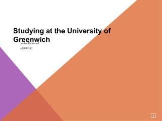 Studying at the University of Greenwich