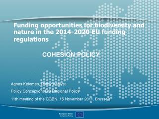 Funding opportunities for biodiversity and nature in the 2014-2020 EU funding regulations