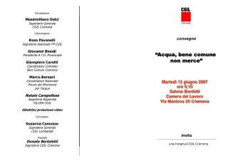 una iniziativa CGIL Cremona