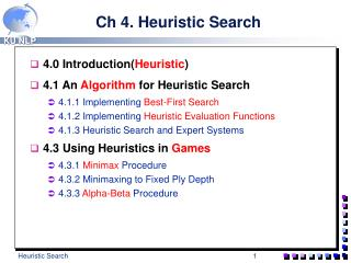 Ch 4. Heuristic Search