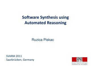 Software Synthesis using  Automated Reasoning