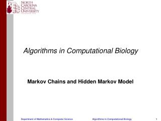 Algorithms in Computational Biology