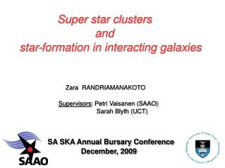 Super star clusters                             and    star-formation in interacting galaxies
