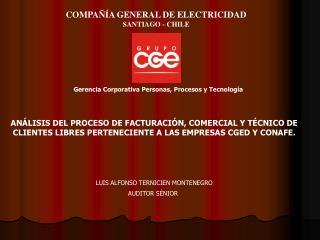 COMPAÑÍA GENERAL DE ELECTRICIDAD SANTIAGO - CHILE