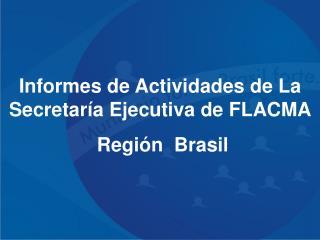 Informes de Actividades de La Secretar�a Ejecutiva de FLACMA   Regi�n  Brasil