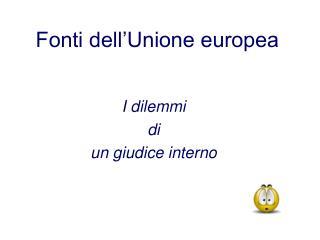 Fonti dell'Unione europea