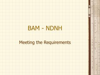 BAM - NDNH