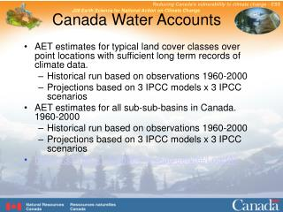 Canada Water Accounts
