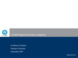 CCAM Regional climate modelling