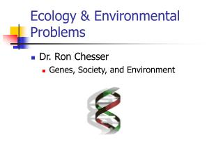 Ecology & Environmental Problems
