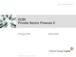 ECBI Private Sector Finance II